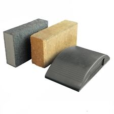 Sanding Block Kit 3pce Cork, Plastic, Sponge Use with Wet & Dry Sandpaper Sheets