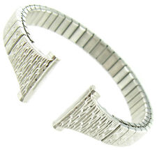 12mm Speidel Twist-O-Flex Ladies Silver Tone Tapered Stainless Steel Watch Band