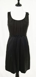 Max and Cleo Women's Cocktail Little Black Dress, Beading, Sz. 8