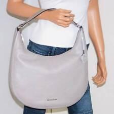 NWT Michael Kors Large 'Lydia' Pearl Grey Pebbled Leather Shoulder Bag Tote Hobo