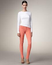 BNWT JOE'S SHARK Skinny Leg corail jeans taille 25 W 34 L RRP £ 189 Tall