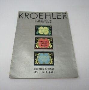 Antique Kroehler Living Room Furniture Catalog 1930 Interior Design Art Deco