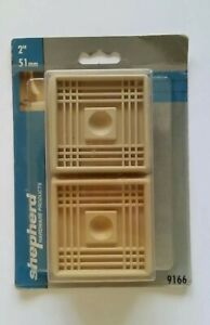 Shepherd 9166 4 Count 2 in. Off White Cushioned Rubber Square Caster Cups