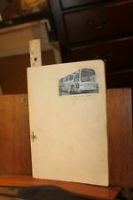 Vintage 1960 Continental Trailways Company Scrapbook Newspaper Clippings
