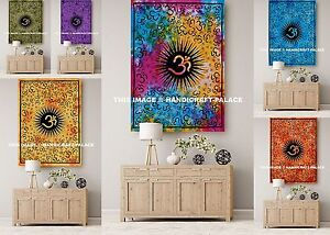 10 PC Wholesale Lot Indian Wall Decor Hanging Throw Poster Om Mandala Tapestry