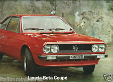 Lancia Beta Coupe 1972 Brochure Prospekt Italian English German French Large