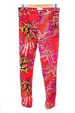 VERSACE FOR H&M Hose Pants Jeans Trousers Blumenprint Damen Gr. DE 38 Mehrfarbig