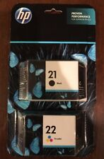 Genuine HP 21 Black 22 Tri-color Ink Cartridges. New And Sealed!