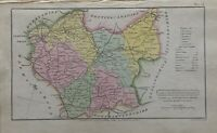 1808 Leicestershire Original Antique Hand Coloured County Map 212 Years Old