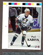 "1996-97 Maggers Proof Anaheim Mighty Ducks' Paul Kariya 7"" x 8.5"""
