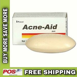 Acne-Aid Bar For Pimple-Prone and Oily Skin [100gx4 bars] EXP:2021 FREE SHIPPING