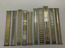 16mm 18mm 20mm 22mm Gold Silver Stainless Stretch Expansion Watch Band Mens MS