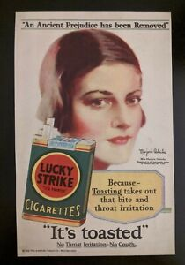 1939 vintage tobacco Ad LUCKY STRIKE Cigarettes Green Label it's Toasted
