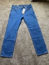 Levi's 505 Men's Regular Fit Jean, 34Wx32L - Blue, New With Tags