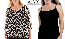NWT 2X Plus 2 Pieces ALYX Chiffon 3/4 Sleeve Chiffon White/Black Top Blouse New