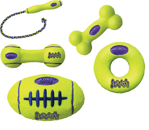 Kong Airdog Squeaker Fetch Toys Rope Fetch Stick Dumbbell Bone American Football