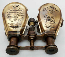 Antique Brass Binocular Maritime Vintage Gift Nautical Monocular Telescope