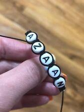 Bracelet Name For Baby,child Black Thread Handmade Choose Name