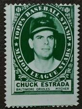 1961 Topps Stamps Chuck Estrada Orioles #2