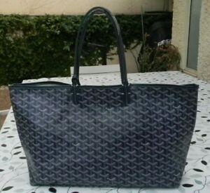 GOYARD - SAINT LOUIS GM HAND TOT BAG -STU020051- W /POUCH - NAVY BLUE - LOGO
