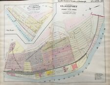 1900 GLASSPORT, PITTSBURGH PA, POLLOCK STATION, G.M. HOPKINS COPY PLAT ATLAS MAP