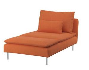 Brand New Ikea Cover for Soderhamn Chaise Longue in Samsta Orange 804.526.63