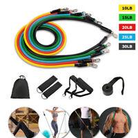 11PCS Resistance Bands Set Elastic Tube Rope Female Strength Exercise Train Kit