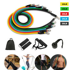 11PCS Resistance Bands Set Elastic Tube Rope Female Strength Exercise Train Kit