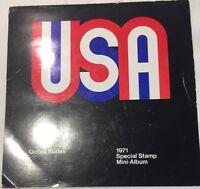 1971 USPS  Mint Set Special Type 1 Mini Album