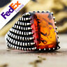 Turkish Handmade 925 Sterling Silver Amber Luxury Men's Ring All Sizes