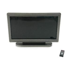Dollhouse TV Television with Remote Control 1:12 Miniature Decor Accessories