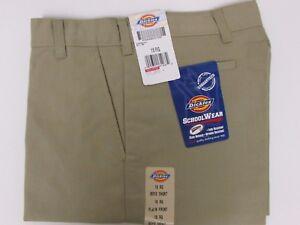 NEW Dickies Boys Khaki Shorts School Uniform Size 18 Regular Flex Classic Fit