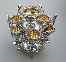A superior & rare antique Georgian Old Sheffield Silver Eggery C.1810-1820