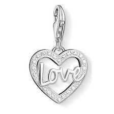 New Thomas Sabo Sterling Silver CZ set LOVE  Heart charm 1310 £55.00