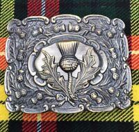 Scottish Kilt Belt Buckle Thistle Crest Antique Finish/Kilt Belt Buckle/kilt
