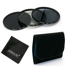 RISE(UK)77MM ND Neutral Density Filter Set ND2 ND4 ND8 for Canon Sony Lens