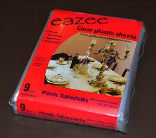9 Disposable Plastic Tablecloths- Eazee