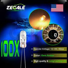 100X Amber Universal Mini Bulbs incandescent Cluster Dash Back Light 12V For GMC