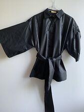 Einhorn Kimono Bluse Hemd Gr. 42 Schwarz Mit Glanz