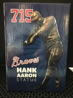 ATLANTA BRAVES  HANK AARON 715 STATUE  2017 NEW IN BOX