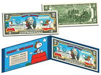 PEANUTS SNOOPY vs RED BARON Legal Tender US $2 Bill * LICENSED * Charlie Brown