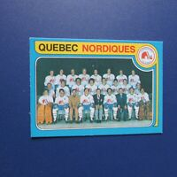 QUEBEC NORDIQUES team card 1979-80 O-Pee-Chee OPC # 261 MINT