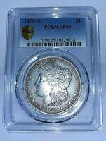 U.S.--1879-O MORGAN SILVER DOLLAR PCGS XF45 GOLD SHIELD