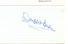 COMEDIAN & ACTOR DUGGIE BROWN HANDSIGNED 6 x 4 RULED CARD