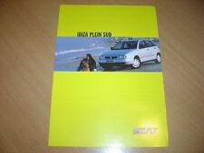 DEPLIANT Seat Ibiza Plein Sud de 1999