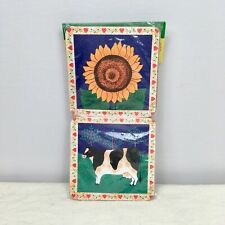 New listing Vintage Set of 6 Country Chic Farmhouse Coasters Cork Sunflower Cow Chicken