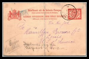 GP GOLDPATH: CURACAO POSTAL CARD 1907 _CV710_P05