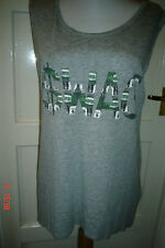 """SIZE  S = 8-10 - GREY """"SWAG""""  SUMMER T.TOP"""