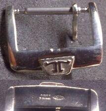Original Jaeger LeCoultre Buckle 2 Fibbia 14mm inner S. Steel Very Good L@@K !
