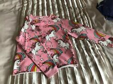Girls' Pink Unicorn Sweatshirt  - NEXT - Age 8
